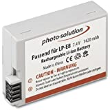 Solution Photo LP-E8 Batterie Lithium-Ion pour Canon EOS 550D/EOS 600D