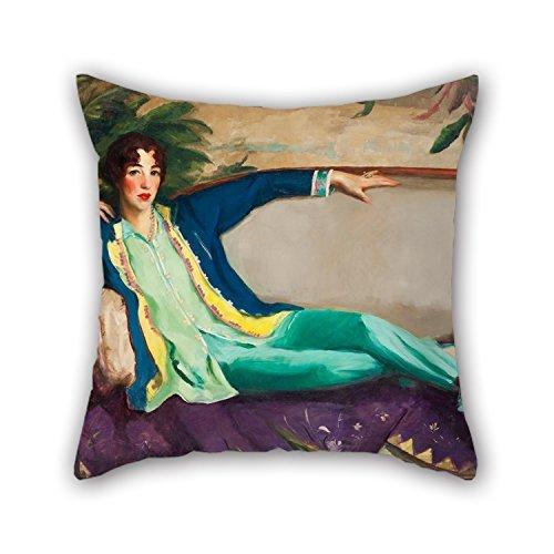 Peinture à l'huile de Robert Henri – Gertrude Vanderbilt Whitney couvertures d'oreiller 50,8 x 50,8 cm/50 par 50 cm pour adultes, anniversaire, Monther, mariage, festival, Amant avec deux côtés