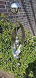 Skulptur Mars aus Edelstahl 168 cm Gartendekoration Beetstecker Rosenkugel