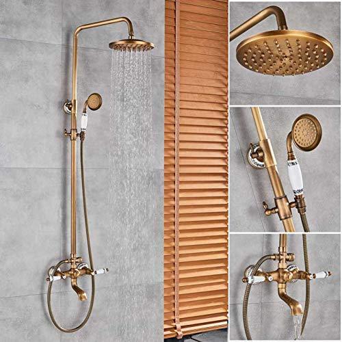 FWJE&F Duschsystem Bronze Schwarz Bad Dusche Wasserhahn Mischer8
