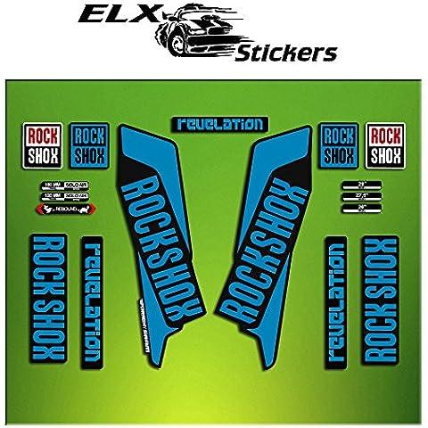 Pegatinas HORQUILLA ROCK SHOX REVELATION 2016 ELX40 STICKERS AUFKLEBER AUTOCOLLANT DECALS BICICLETA CYCLE MTB BIKE 26