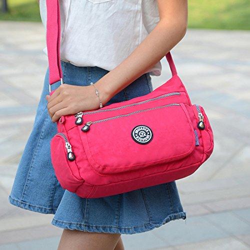 Supa Moden–Borsa a tracolla a tracolla leggero utile Daily PAC Large Handle borsa, donna, Charm Rose