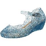 Katara - Zapatos para disfraz de princesa color Azul, EU . 32 (tamaño del fabricante 34)