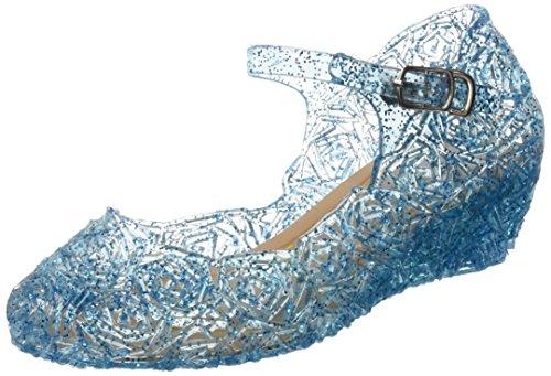 Kostüme Prinzessin Junior (Katara - Frozen Eiskönigin Prinzessin Elsa, Cinderella Schuhe für Kinder-Kostüme und Prinzessinenkleid, Gr. 32,)