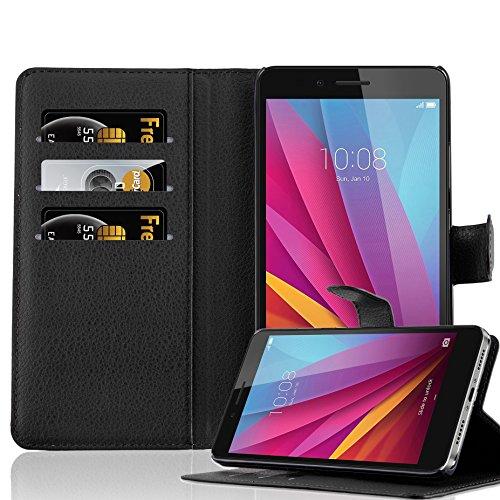 Cadorabo DE-105723 Huawei Honor 5X / Play 5X / Huawei GR5 Étui avec Compartiment pour Cartes et Fonction Support Noir