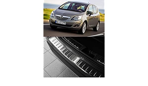 Vauxhall Opel Meriva B MK2 II Rear Bumper Protector Guard Trim Cover Chrome Sill
