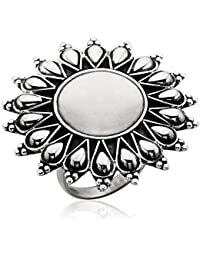 Ahilya jewels Dakshin Collection .925 Sterling Silver Ring