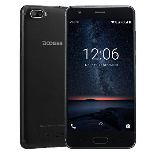 Telephone Portable Debloqué, DOOGEE X20L Smartphone 4G Pas Cher, Écran 5 Pouce HD IPS, 2Go RAM 16Go ROM, MT6737 Quad Core, Deux Caméras Arrière 5MP, Téléphone Android 7,0 Double SIM - Noir