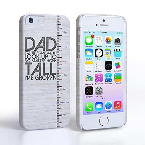 Caseflex iPhone 5 Coque Rigide Avec Citation Grandir Avec Papa