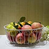 Hetao moda Creativo Cesto di frutta Vassoio di frutta Mensola vassoio metallo Scaffale di stoccaggio soggiorno Alta capacità vasellame Spuntini 30,5 * 30,5 * 12 cm , B