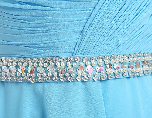 Dresstells Robe courte de soirée de cocktail Robe de demoiselle d'honneur emperlée avec paillettes Bordeaux