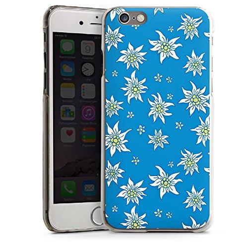Apple iPhone 4 Housse Étui Silicone Coque Protection Fleurs Fleurs Edelweiss CasDur transparent
