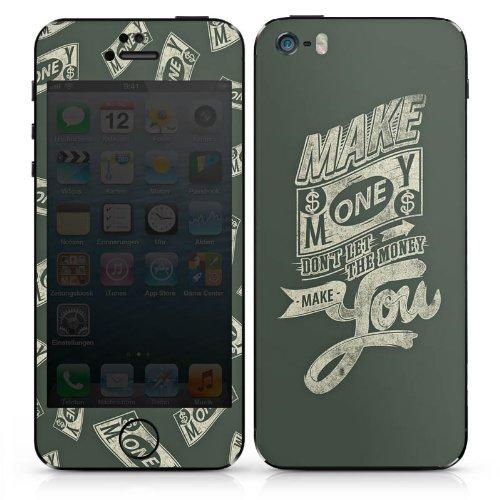 Apple iPhone 4s Case Skin Sticker aus Vinyl-Folie Aufkleber Geld Lebensweisheiten Statement DesignSkins® glänzend