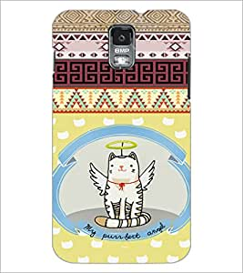 PrintDhaba Angel Cat D-4625 Back Case Cover for SAMSUNG GALAXY S5 (Multi-Coloured)