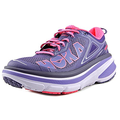 Hoka One One - Zapatillas de running Bondi 4 para mujer, (Mulberry Purple / Neon Pink), 6 B(M) US