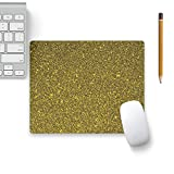 Colorpur Golden Luxury Shiny Style Designer Mouse Pad Black Base - 8 in x 7 in | Artist: WonderfulDreamPicture