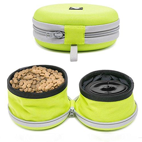Kaka Mall Hunde Futterbeutel Pet Training Behandeln Tasche Haustier Treat Bag mit Schnellzugriff Reißverschluss Wasserdicht Reflektierende Futter tragbar Hund Snack Tasche(Hellgrün) (Reißverschluss Greifer)