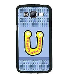 PrintVisa Metal Printed Alphabet Designer Back Case Cover for Samsung Galaxy J5-D5064