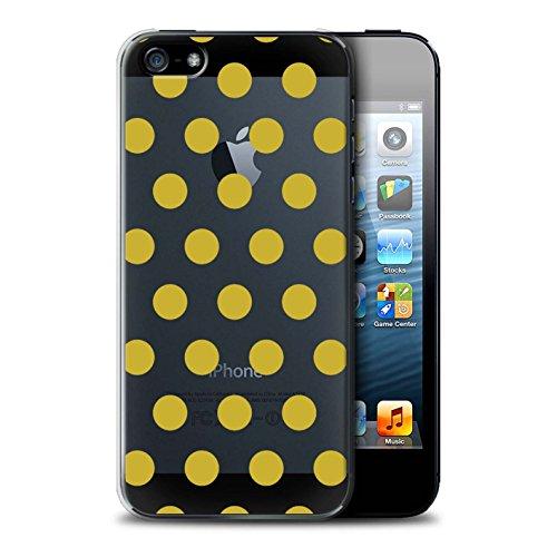 Stuff4 Hülle / Case für Apple iPhone SE / Gold Muster / Dotty Punktmuster Kollektion Gold