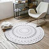 Malilove Carpe | Nordic Grau Serie Runde Teppiche Für Wohnzimmer Computer Stuhl Bereich Teppich Kinder Spielen Zelt Bodenmatte Garderoben Teppiche, 140 cm