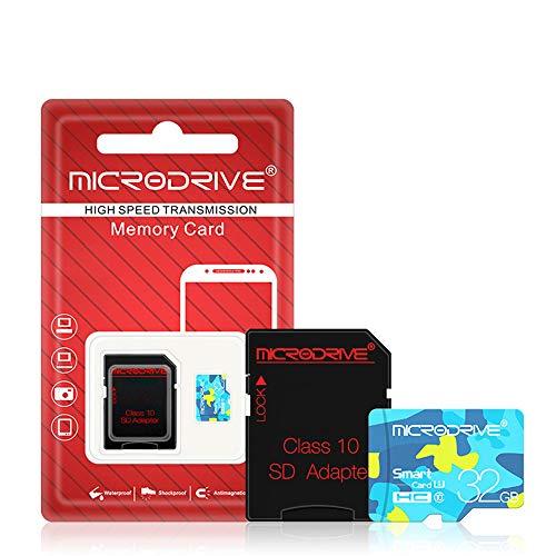 Secure Digital Microsd (HM2 Microsd-Speicherkarten, 8 GB 16 GB 32 GB 64 GB 128 GB SD/TF Secure Digital-Speicher, Micro SD Read 90 MB/S Write 80 MB/S, für Kamera-Speicherkarte - Blau,128GB)