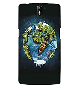 PRINTSWAG GLOBE Designer Back Cover Case for ONE PLUS ONE