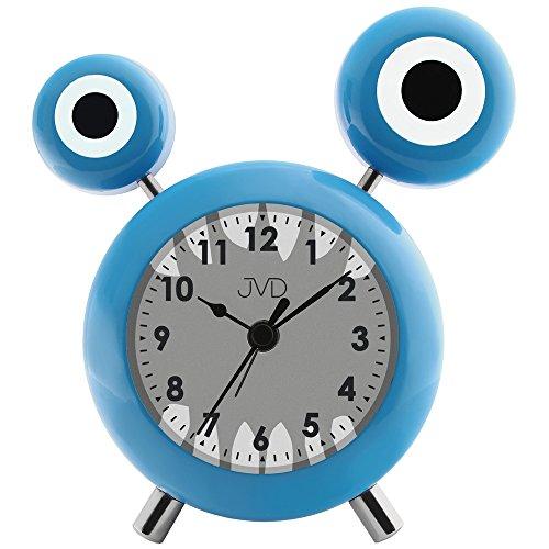 JVD SRP2202.2 Wecker für Kinder Kinderwecker Monster blau hellblau leise