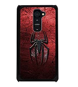 PrintDhaba Spider D-2323 Back Case Cover for LG G2 (Multi-Coloured)