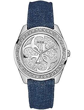 Guess Damen-Armbanduhr Analog Quarz Leder W0627L1