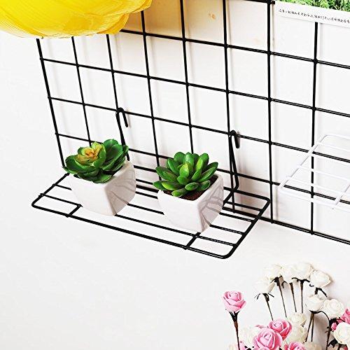zonyeo gerade Regal Rack für 'The Shopfitting Shop Präsentationsständer Grid Panel Wand montierbar Draht Organizer Storage Blumentopf Display Decor 920,3cm X 322,9cm (Draht-wand Rack)