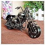 GWModel Oldtimer Motorrad Modell Handarbeit Eisen Kunst Antike Modell Fahrzeug Sammlung Home Desktop Retro Metall Deko Kreative Persönlichkeit Ornament Hochwertiges Geschenk