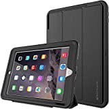 "TECHGEAR� D-FENCE Case for New Apple iPad 9.7"" ( 2018 / 2017 ) - Slimline Shock Proof Tough Rugged Protective Armour Defence Smart Case with Detachable Screen Cover / Stand - Kids Schools Builders Workman Case [ALL BLACK] - for 5th & 6th Generation iPad 9.7"""