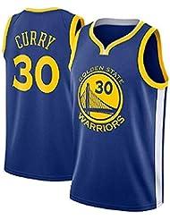 runvian Camiseta de Baloncesto para Hombre, NBA Stephen Curry #30 Warriors Golden State Bordado