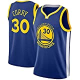 runvian Camiseta de Baloncesto para Hombre, NBA Stephen Curry #30 Warriors Golden State Bordado Transpirable y Resistente al Desgaste Camiseta para Fan