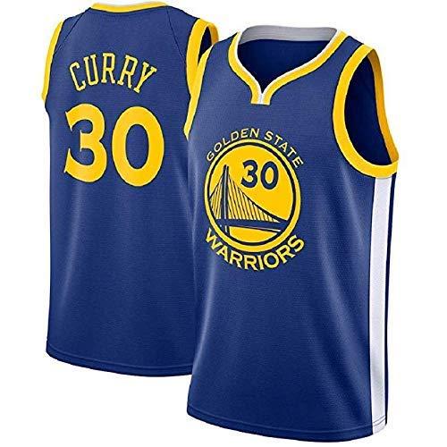 MTBD Basketballtrikot für Herren - NBA Warriors Golden State #30 Stephen Curry Basketball-Netztrikot,T-Shirt Unisexe Sportswear (Warriors Golden State Curry)