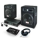 PA Anlage Basstigall Set Verstärker Boxen Mikrofone 1200W