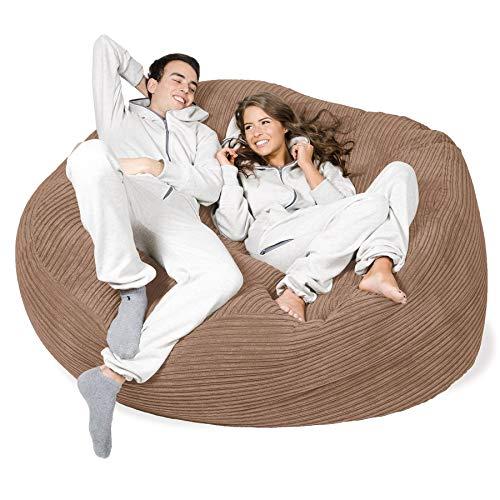 Lounge Pug®, 'Mega-Mammoth' Sofa Sitzsack XXL, Schlafsofa, Cord Sand