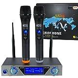 VHF radio microfono palmare microfono senza fili con sistema Dual palmare microfoni dinamici e LCD Display Per Karaoke Party incontro