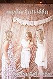 TRLYC 1,2x 2,1m Shimmer 1,2x 2,1m paillettes tessuto sfondo fotografico per matrimonio in vendita colori sono disponibili, Altro, Champagne, 4ft*7ft sequin backdrop