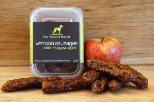 the-innocent-hound-venison-sausage-with-chopped-apple-100g-pack-of-6