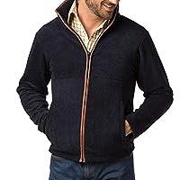 Rydale Mens Harpham Autumn Winter Mid Layer Warm Full Zip Fleece Jacket Coat Navy