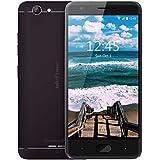Ulefone U008 Pro Sim-free unlocked Smartphone 4G Economico basso costo, Premium Metal Unibody con schermo HD da 5.0 Android 6.0 MT6737 1.3GHz 2GB RAM 16G ROM 8MP Doppia macchina fotografica posteriore 5MP Ca Dual SIM GSM,WCDMA,FDD-LTE, wifi, GPS/Glonass, 3500mAh Batteria a lunga durata (Nero)