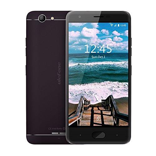 Ulefone U008PRO Smartphone téléphone portable Débloqué 4G petit prix pas cher sans forfait MT6737 Octa core 1.3GHz,2 GB RAM + 16 GB ROM,5.0 pouce HD écran ,Android 6.0,Dual sim,GSM,WCDMA,FDD-LTE,Batterie 3500mAh ,wifi,GPS/Glonass,caméra 8MP+5MP (Noir)