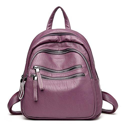 Syknb Shoulder Bag, Casual Backpack, Simple Travel, Shoulder Bag,Violet Violet