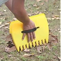 TIFANTI conos de hojas grandes rastrillos de mano, recoger hojas, la hierba, césped esquejes de forma instantánea rápida y fácil Tamaño de Mano Rastrillo de Hojas, grande (2 unidades)