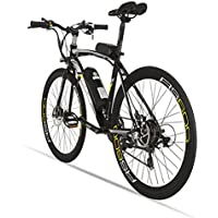 Extrbici bicicleta eléctrica RS600 MTB bike bicicleta de montaña 700C x 28C-40H aleación de aluminio marco 240W 36V 15A Shi-mano 21 velocidades con ...