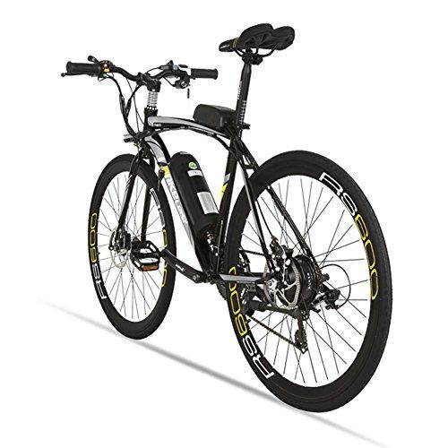 Elektrische City Bike extrbici RS600Mans Elektrische Road Bike 700C × 50cm starken Carbon Stahl Rahmen 240W 36V 15Ah Lithium-Ionen-Akku mit Schlüssel Start Shimano 21Geschwindigkeiten Dual Scheibenbremsen mit 3Riding Modelle für Mann C-rahmen-motor