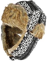 Wintermütze Polarmütze Norwegermütze Schapka-Mütze Tschapka Skimütze Fellmütze Uschanka für Kinder und Jugendliche für einen kuscheligen Winter