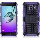[ Samsung Galaxy A3 (6) 2016 ] - Carcasa Alligator JAMMYLIZARD Militar Heavy Duty Case De Alta Resistencia, MORADO