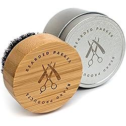 BEARDED PARKER Bartbürste für Professionelle Bartpflege mit hochwertiger Aufbewahrungsbox | Perfekt zum Auftragen von Bartöl und Bartbalsam